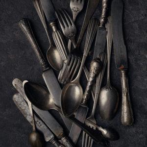 antique silver cutlery